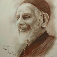 طراحی از چهره زنده یاد علی اکبر یساولی
