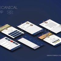 طراحی UI اپلیکیشن اجتماعی مکانیکال - مارلیک استودیو